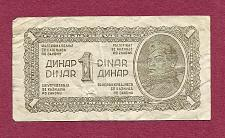 Buy Yugoslavia 1 Dinar 1944 Banknote - Historic WWII Currency !!!