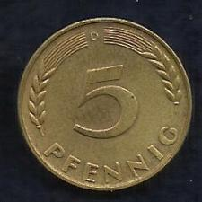 Buy Germany - West Germany - Bundesrepublik - German 1950 D - 5 Pfennig Coin