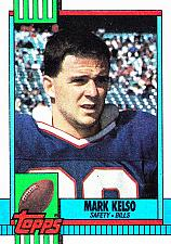 Buy Mark Kelso #196 - Bills 1990 Topps Football Trading Card