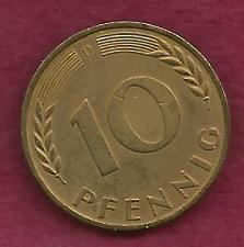 Buy GERMANY 10 Pfennig 1950 Coin