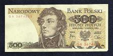 Buy POLAND 500 ZLOTYCH 1982 Banknote GA3674633 - Tadeusz Kościuszko