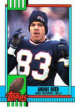 Buy Andre Reed #204 - Bills 1990 Topps Football Trading Card