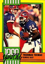 Buy Thurman Thomas #11 - Bills 1990 Topps Football Trading Card