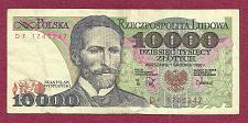 Buy POLAND 10000 ZLOTYCH 1988 Banknote DF1745247 - Stanislaw Wyspianski - Playwright