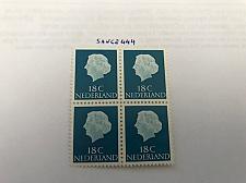 Buy Netherlands Queen Juliana 18c block mnh 1954