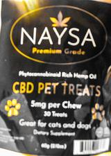 Buy CBD Premium Pet Treats 5mg 30 treats pain skin healthy coat Organic Hemp OilO