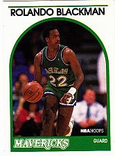 Buy Rolando Blackman #20 - Mavericks 1989 NBA Hoops Basketball Trading Card