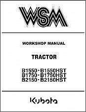 Buy Kubota B1550 B1750 B2150 ( HST ) Tractor WSM Service Workshop Manual CD