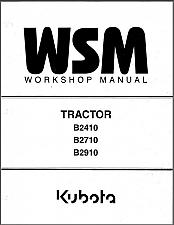 Buy Kubota B2410 B2710 B2910 Tractor WSM Service Workshop Manual CD