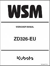 Buy Kubota ZD326 Zero Turn Mower WSM Service Workshop Manual on a CD - ZD326-EU