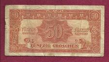 Buy AUSTRIA 50 Groshen 1944 WWII ALLIED MILITARY (Alliierte Militarbehorde) Banknote Rare