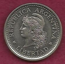 "Buy ARGENTINA 1 Peso 1959 Capped Liberty Head""LIBERTAD"" Coin"