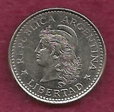 "Buy ARGENTINA 5 Centavos 1959 Capped Liberty Head ""LIBERTAD"" Coin"