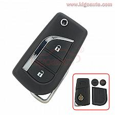 Buy 89070-12A20 Flip remote key 2 button for Toyota Corolla