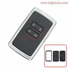 Buy New Style 4 Button Smart Remote Key Fob Card key shell for Renault Kadjar