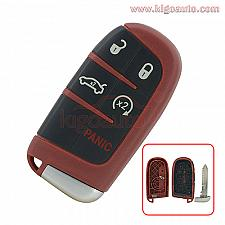 Buy Red Smart key case 5 button for Dodge Charger Challenger Chrysler 300 M3N-40821302