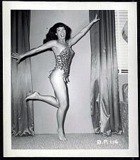 Buy BETTY PAGE LEOPARD PRINT OUTFIT POSE IRVING KLAW VINTAGE 4X5 BP-114 RARE
