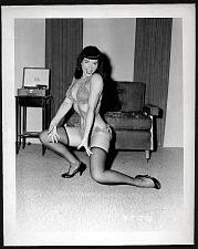 Buy BETTY PAGE BARE CHEEKY LEGGY POSE VINTAGE IRVING KLAW 4X5 BP-233
