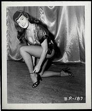 Buy BETTY PAGE LEGGY BENCH POSE VINTAGE IRVING KLAW 4X5 BP-187