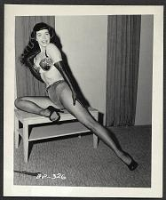 Buy BETTY PAGE WIDE LEGGY POSE VINTAGE IRVING KLAW 4X5 BP-326