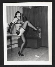Buy BETTY PAGE BRA PANTIES POSE VINTAGE IRVING KLAW 4X5 #4624