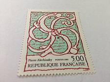 Buy France Art Painting Alechinsky mnh 1985