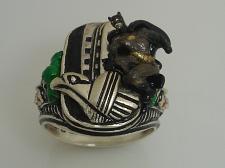 Buy The JOKER Batman Garyole Sterling Silver ring Large