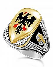 Buy German Eagle Teutonic knights shield ring sterling silver