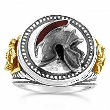 Buy Praetorian Guard,Helmet Men's Signet ring,,Ster. Silver