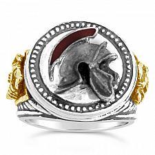 Buy Praetorian Guard,Helmet Men's Signet ring,,Ster. Silver