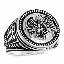 Buy American Eagle Mens Coin ring Sterling Silver Large