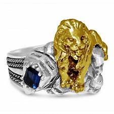 Buy New York 42 street 10 Karat Gold lion sterling silver ring