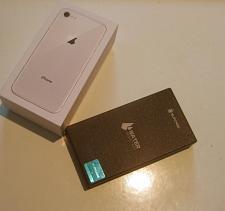 Buy Excellent Silver 64gb Unlocked Iphone 8, A1863 Bundle!!
