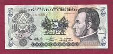 Buy Honduras 5 Lempiras 2004 Banknote AT3756691