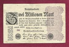 Buy GERMANY 3 MILLON MARK 1923 BANKNOTE - INFLATION REICHSBANKNOTE