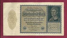 Buy GERMANY 10,000 MarK 1922 VAMPIRE NOTE D01383734 - A Historic & truly Unique Note !!!