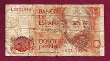 Buy SPAIN 200 Pesetas 1980 Banknote L6331848 - LEOPOLDO CLARIN