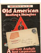 Buy Roofing - 11 Envelopes - Scarce - 4 Flyers (Very Fragile)