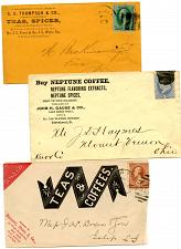 Buy - Coffees-Teas-Spices -1 Telegram From India -1860s - See Scans