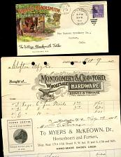 Buy Blacksmith & Horses - 11 Pieces On Ad Paper -1870S