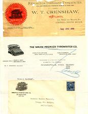 Buy Typewriters - 15 Letterheads - 7 Envelopes -1880s