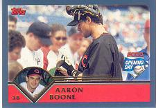 Buy AARON BOONE ~ 2003 TOPPS OPENING DAY #3 ~ REDS
