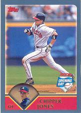 Buy CHIPPER JONES ~ 2003 TOPPS OPENING DAY #4 ~ BRAVES