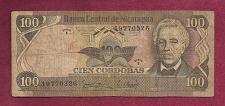 Buy NICARAGUA 100 Cordobas Banknote 19770326 Series E (8 Digit Serial) Jose Delores Estra