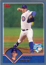 Buy MARK PRIOR ~ 2003 TOPPS OPENING DAY #35 ~ CUBS