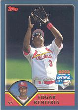 Buy EDGAR RENTERIA ~ 2003 TOPPS OPENING DAY #49 ~ CARDINALS