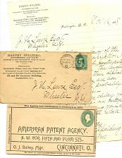Buy Patents & Related Fom 1870s-1910s -27 Items - See Scans
