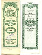 Buy - BONDS From City Of Great Falls, Montana- 20s-50S - See Scans
