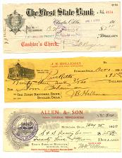 Buy Oklahoma 8 Checks - From 1909 - 1920s - See Scans