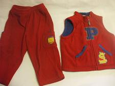 Buy Winnie The Pooh Vest And Pants Red 100% Polyester Boy Girl 18 Months